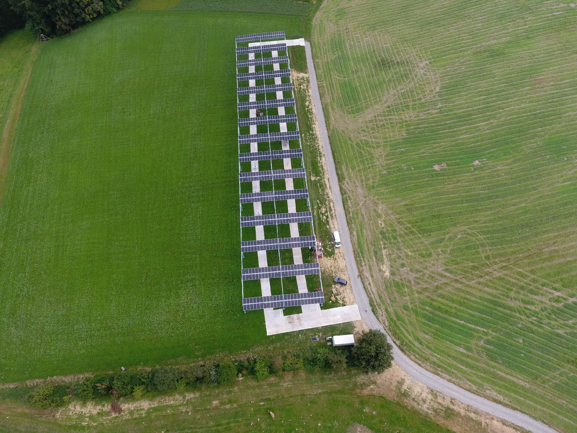 Agrophotovoltaic pilot system at Heggelbach